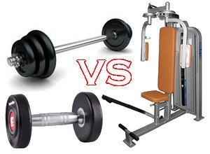 Wolne ciężary vs maszyny